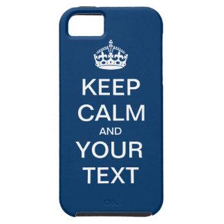 """Cree sus los propios:  """"Guarde la calma y continúe iPhone 5 Carcasas"""