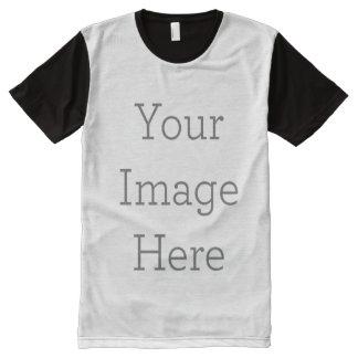 Cree sus los propios por todo la camiseta impresa