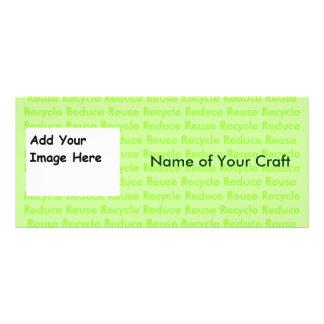Cree sus los propios reciclan tarjetas lona publicitaria