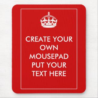 Cree sus los propios mousepad