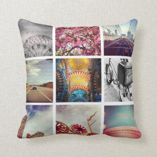 Cree sus propias almohadas de tiro de Instagram