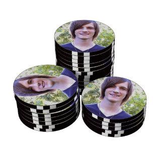 Cree sus propias fichas de póker superiores modifi juego de fichas de póquer