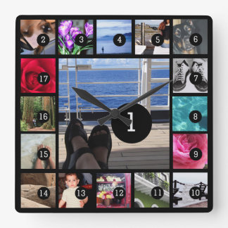 Cree sus propias imágenes del estilo 17 de reloj cuadrado