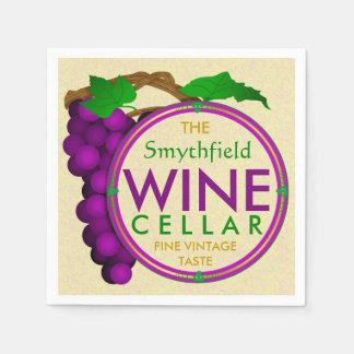 Cree sus propias uvas de la bodega personalizadas servilleta de papel
