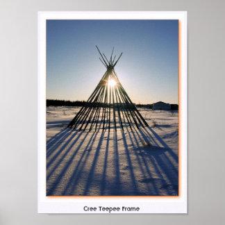 Cree Teepee Frame Poster