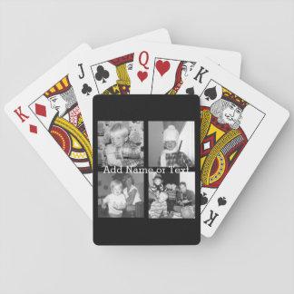 Cree un collage con 4 fotos - negro de Instagram Barajas De Cartas