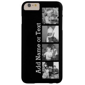Cree un collage con 4 fotos - negro de Instagram Funda Barely There iPhone 6 Plus