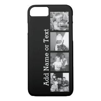 Cree un collage con 4 fotos - negro de Instagram Funda iPhone 7