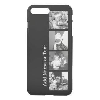 Cree un collage con 4 fotos - negro de Instagram Fundas Para iPhone 7 Plus