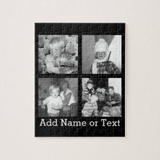 Cree un collage con 4 fotos - negro de Instagram Puzzle