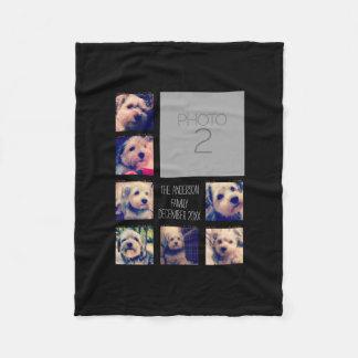 Cree un collage de encargo de la foto con 8 fotos manta de forro polar