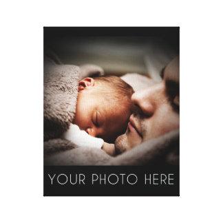 Cree un regalo de la foto de familia lona envuelta para galerias