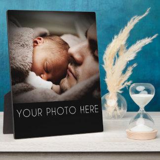 Cree un regalo de la foto de familia placas con foto