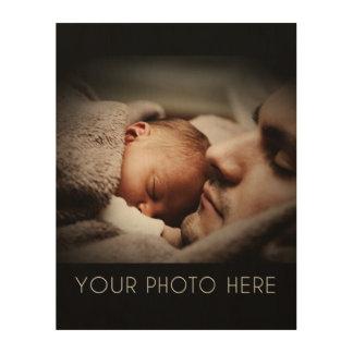 Cree un regalo de la foto de familia impresiones en madera