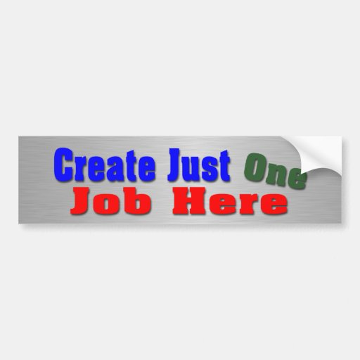 Cree un trabajo etiqueta de parachoque