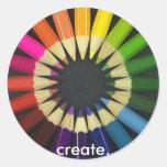Cree una vida colorida etiquetas