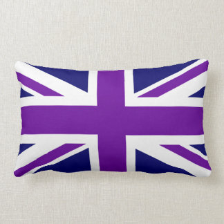 Cree Union Jack púrpura de encargo Cojín