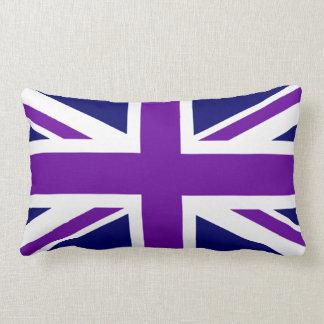 Cree Union Jack púrpura de encargo Cojín Lumbar