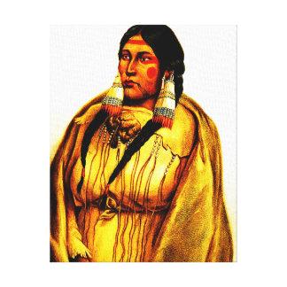 Cree Woman - Karl Bodmer Canvas Print