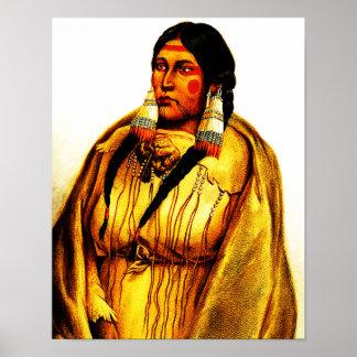 Cree Woman - Karl Bodmer Print