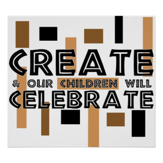Cree y nuestros niños celebrarán impresiones