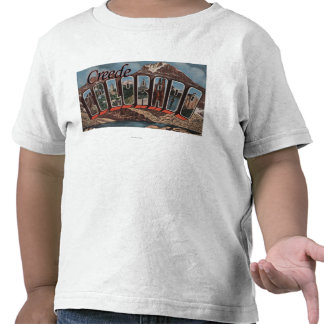 Creede, Colorado - Large Letter Scenes T-shirts