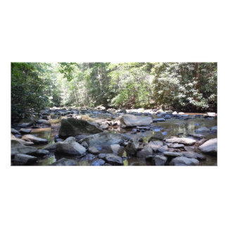 Creek and Rocks Photo Card Template