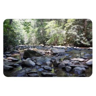 Creek and Rocks Rectangular Photo Magnet