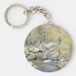 Creek at Chimney Rock Basic Round Button Keychain