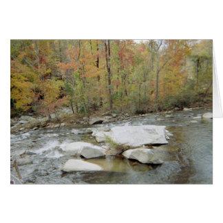 Creek At Chimney Rock, North Carolina Card