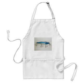 Creek Chub Pikie Blue Flash Vintage Lure Apron