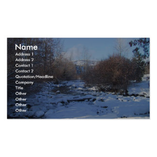 Creek Covered By Ice And Snow In Winter Business Card Templates