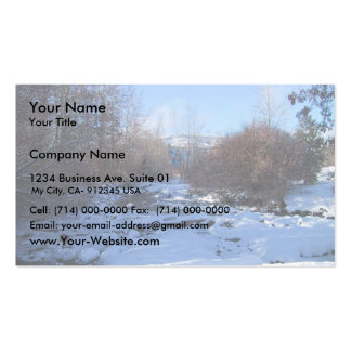 Creek Covered By Ice And Snow In Winter Business Card Template