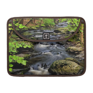Creek flows through forest sleeves for MacBooks