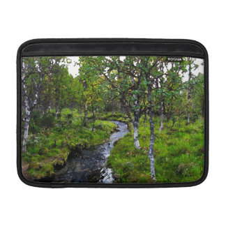 Creek in Birch Woods Painting MacBook Air Sleeve