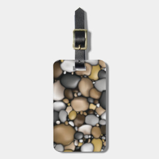 Creek Rocks Texture Luggage Tag