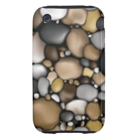 Creek Rocks Texture Tough iPhone 3 Cover