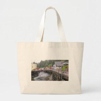 Creek Street Ketchikan, Alaska Canvas Bags