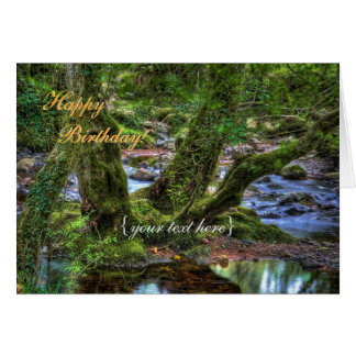 Creek Trees at Spitchwick - Happy Birthday Card