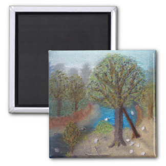 Creek with beach and trees magnet