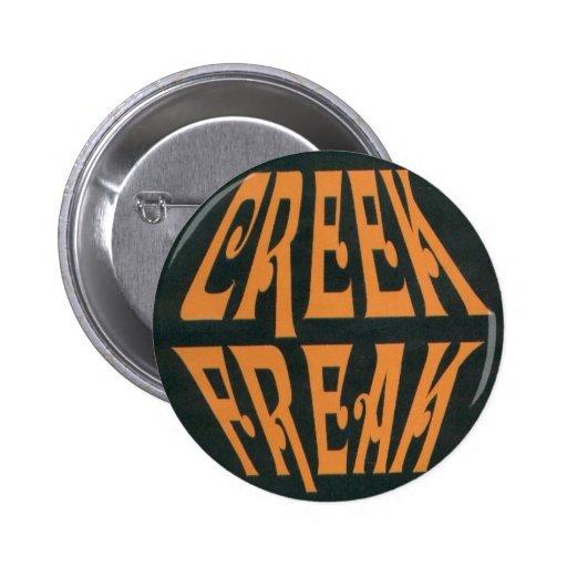 creekfreak pinback button