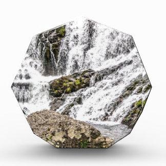 creeks pours over rocks acrylic award