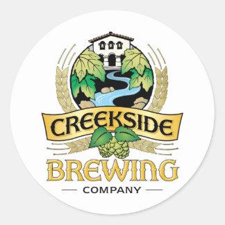 Creekside Brewing Company Pegatina Redonda