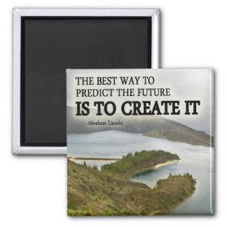 Créelo cita en la fotografía imán cuadrado