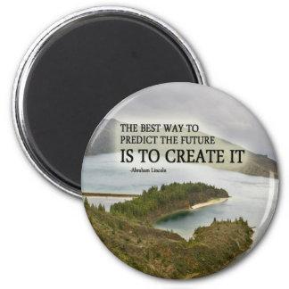 Créelo cita en la fotografía imán redondo 5 cm