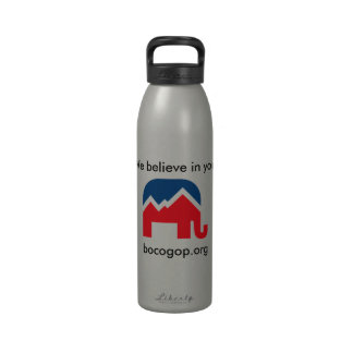 Creemos en usted Botella de agua de aluminio