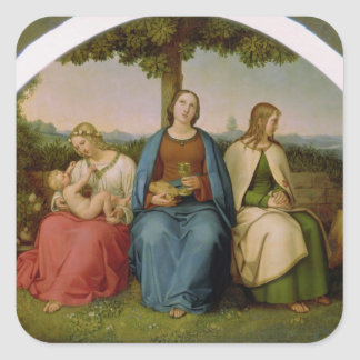 Creencia, esperanza y amor, 1819 calcomanía cuadrada personalizada