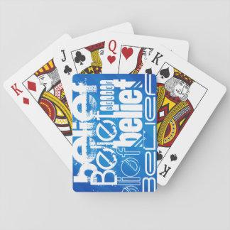 Creencia; Rayas azules reales Cartas De Póquer