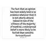 Creencias de Bertrand Russell Postales