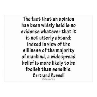 Creencias de Bertrand Russell Postal
